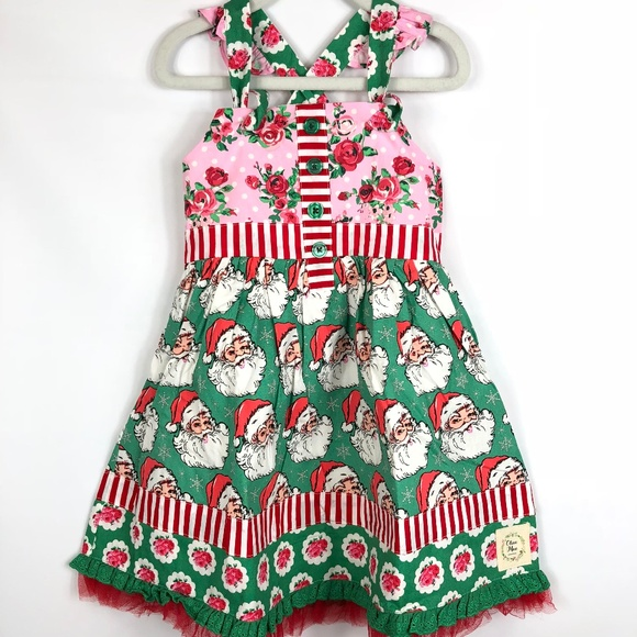 738c86bb44a NWT Olive Mae Santa Baby Christmas Knot Dress